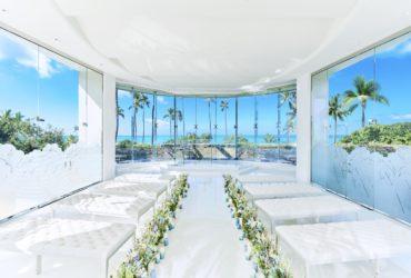 360度ガラス張りの純白チャペル